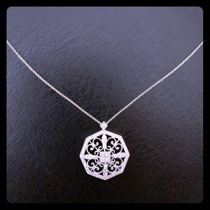 COPY - Diamond vintage-style 18k white gold neckl…